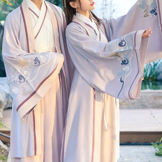 Flower Embroidered Chinese Traditional Costume Set 1065499500