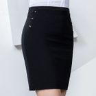 Studs Pencil Skirt 1596