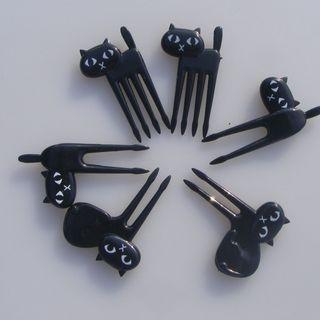 Set of 6 : Cat Fork 1061400243