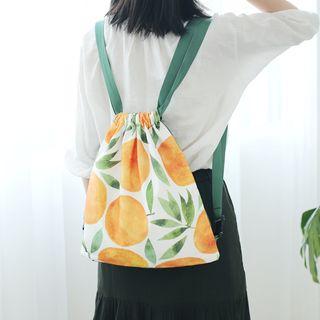 Drawstring   Backpack   Canvas   Print