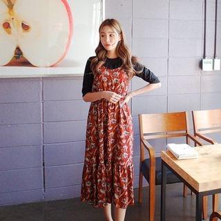 Spaghetti-Strap A-Line Long Dress 1057972461