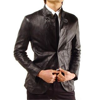 Buy Purplow Genuine Leather 2 Button Jacket 1004595038