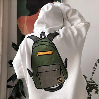 Image of Backpack Printing Long-Sleeve Hoodie