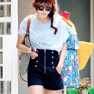 Buy REDOPIN High-Waisted Shorts 1022971402