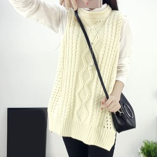 Ribbed Sleeveless Knit Dress 1057628636