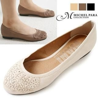 Buy MICHEL PARA COLLECTION Punched-Ruffle Flats 1023037175