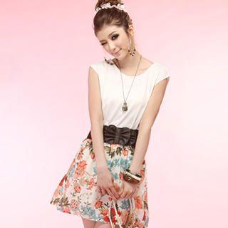 Buy Tokyo Fashion Cap-Sleeve Mock Two-Piece Dress 1022963847
