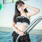 Set: Ruffled Bikini Top + Swim Skirt 1596