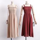 Smocked High-Waist Sleeveless Dress 1596