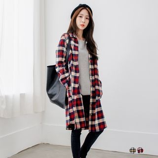 Plaid Shirtdress 1053383292