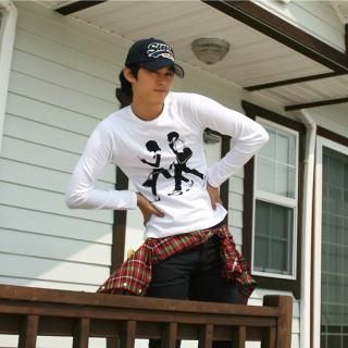 Picture of BoynMen Long Sleeve Print Tee 1021442503 (BoynMen, Mens Tees, South Korea)