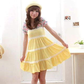 Buy ZOO Lace-Trim Tiered Sundress 1022689933