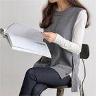 Sleeveless Buttoned Wool Blend Knit Top 1596