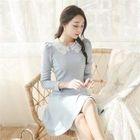 Lace-Collar A-Line Dress 1596
