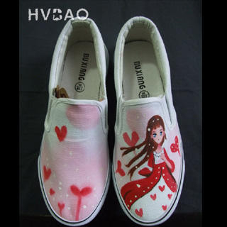 Buy HVBAO  Pink World  Slip-Ons 1016480316