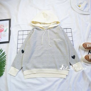 Striped Knit Hoodie 1065093901