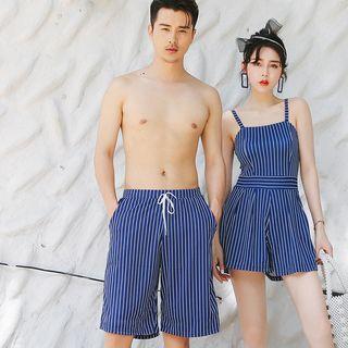 Couple | Stripe | Beach | Short | Dress | Swim