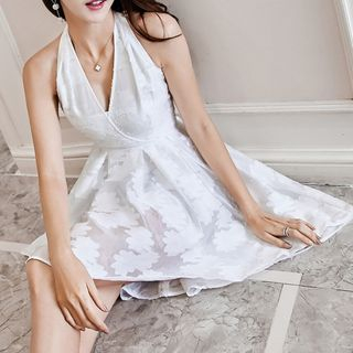 Sleeveless Dip-Back A-Line Dress 1061159390