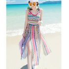 Set: Patterned Bikini + Slit Midi Sundress 1596