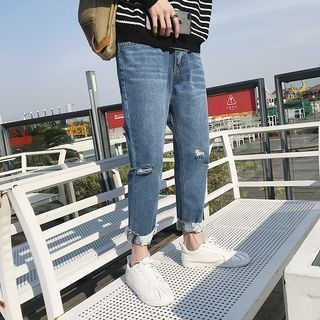 Slim-Fit Distressed Jeans 1065276986