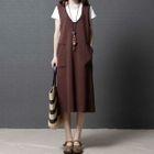 Pocketed Pinafore Dress 1596
