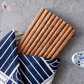 Wooden Chopsticks (10 Pairs) 1 Box - Chopsticks - One Size