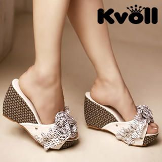 Picture of Kvoll Dotted Flower Wedges 1022987335 (Other Shoes, Kvoll Shoes, China Shoes, Womens Shoes, Other Womens Shoes)