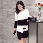 Set: Color-Block Cropped Top + Color-Block Skirt 1596