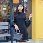 Bell-Sleeve Laced Dress 1596