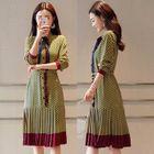 Frilled Patterned Chiffon Dress 1596