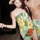 Couple Set: Floral Bikini + Cover-Up Dress / Swim Shorts 1596