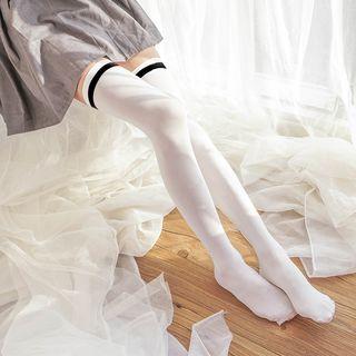 Plain Velvet Tall Socks 1065067834