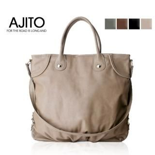 Buy AJITO Faux-Leather Tote 1021851197