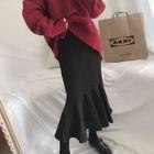 Ruffle Hem Midi Skirt 1596