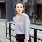 Long-Sleeve Chiffon Shirt 1596