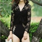 Lace Long Sleeve Swimsuit 1596