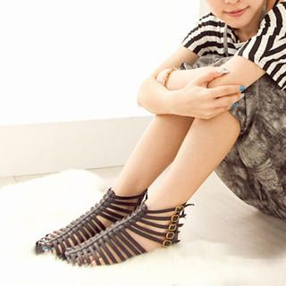 Picture of Fashion Lady Buckled Gladiator Sandals 1023002702 (Sandals, Fashion Lady Shoes, China Shoes, Womens Shoes, Womens Sandals)