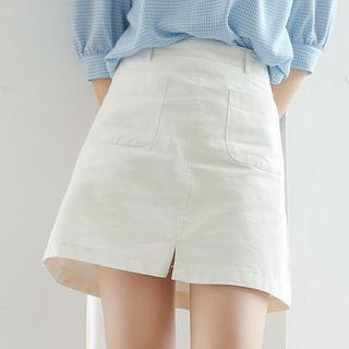 Miahynn Slit A-Line Skirt
