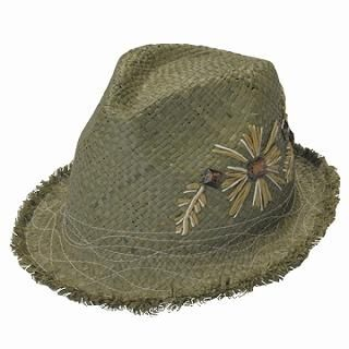 Buy GRACE Flower Embroidered Hat Green – One Size 1022190341