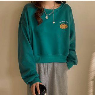 Pumpkin Print Sweatshirt