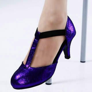 Buy Kvoll T-Strap Glitter Pumps 1022533273