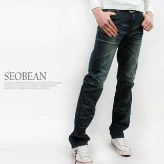 Buy SEOBEAN Washed Straight-Cut Jeans 1022422646