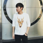 3/4-Sleeve Deer Embroidered T-Shirt от YesStyle.com INT