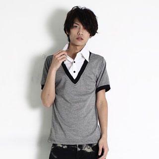 Buy SERUSH Inset Shirt V-Neck Tee 1022914744