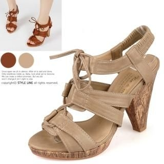 Buy STYLE LINE Lace-Up Platform Sandals 1022725648