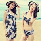 Set: Floral Bikini + Playsuit 1596