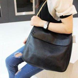 Faux-Leather Shoulder Bag