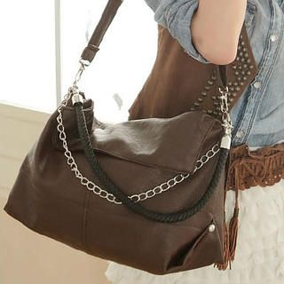 Chain-Accent Cross Bag
