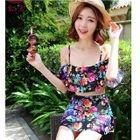 Set: Floral Swim Top + Skirt 1596
