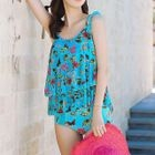 Set: Floral Print Tankini + Cover-Up 1596